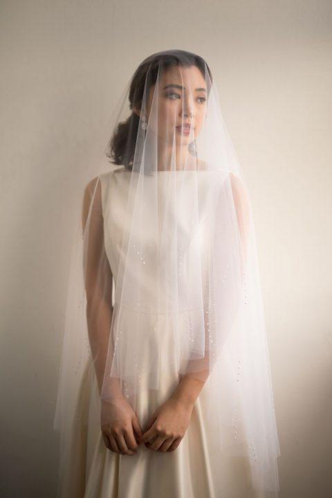 Sarah + Dotted Veil 1