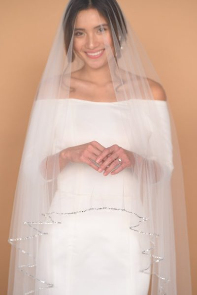 Crystal Trim Veil